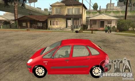 Citroen Xsara Picasso для GTA San Andreas вид слева