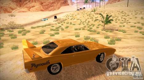 Plymouth Roadrunner Superbird Custom для GTA San Andreas вид слева