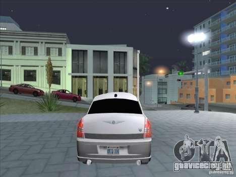Chrysler 300C Limo для GTA San Andreas вид сзади слева