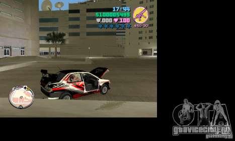 Mitsubishi Lancer Evo VIII для GTA Vice City вид справа