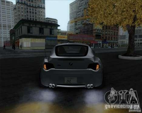 BMW Z4M для GTA San Andreas вид сзади слева