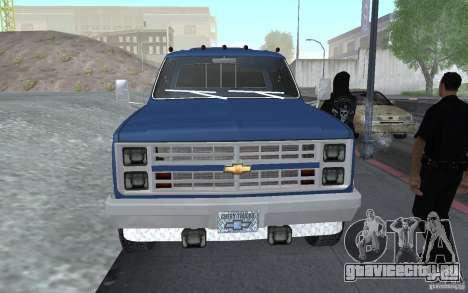 Chevrolet Silverado 3500 для GTA San Andreas вид справа