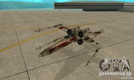 X-WING v1 из Star Wars для GTA San Andreas вид сверху