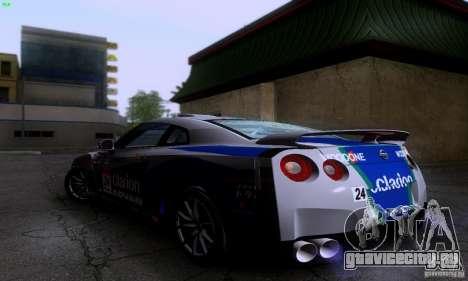 Nissan GTR R35 Tuneable для GTA San Andreas вид сзади