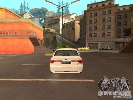 BMW Alpina B7 для GTA San Andreas вид сзади слева