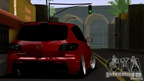 Mazda Speed 3 для GTA San Andreas вид сзади слева