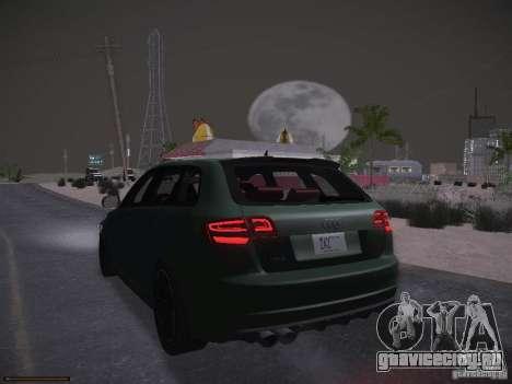 Audi RS3 2011 для GTA San Andreas вид сверху