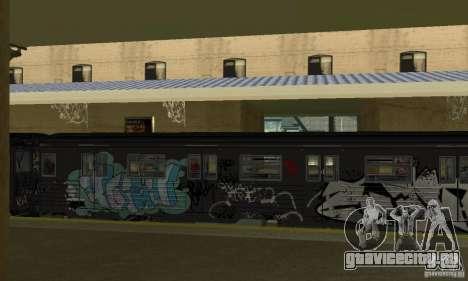GTA IV Enterable Train для GTA San Andreas вид сзади