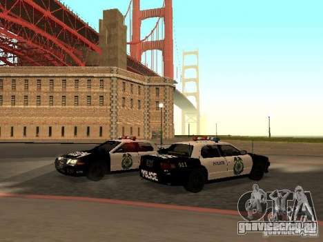 Police Civic Cruiser NFS MW для GTA San Andreas вид сзади слева