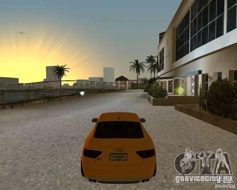 Audi S5 для GTA Vice City вид сзади слева