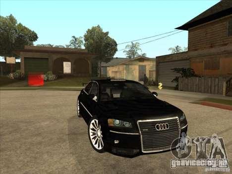 Audi A8 Tuned для GTA San Andreas вид сзади