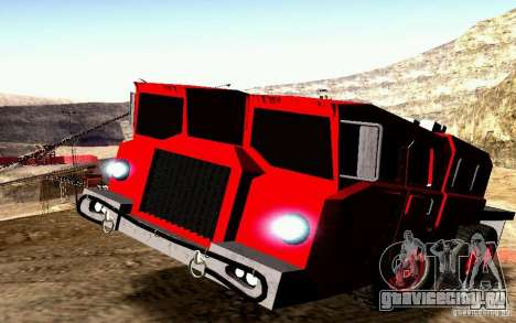 МАЗ-7310 Civil Narrow Version для GTA San Andreas вид сверху