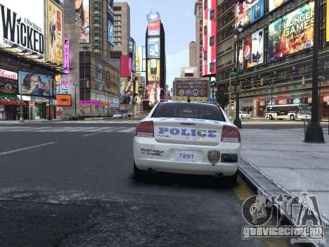 Dodge Charger NYPD для GTA 4 вид справа