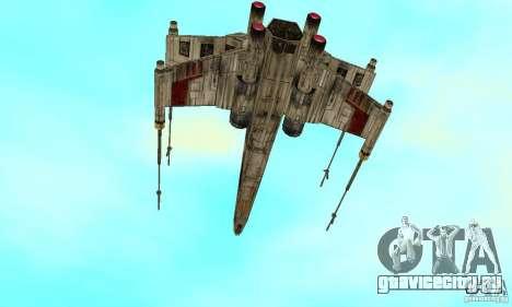 X-WING v1 из Star Wars для GTA San Andreas вид слева