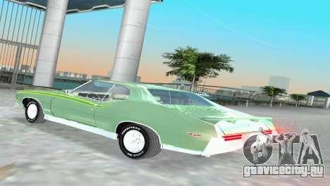 Pontiac GTO The Judge 1969 для GTA Vice City вид справа