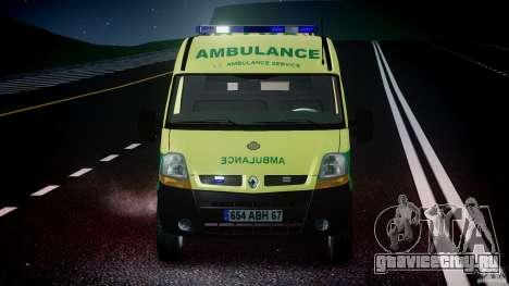 Renault Master 2007 Ambulance Scottish [ELS] для GTA 4 салон
