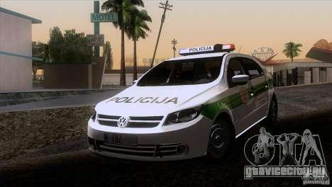 Volkswagen Voyage Policija для GTA San Andreas вид слева