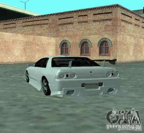 Nissan Skyline R32 GT-R для GTA San Andreas вид сзади