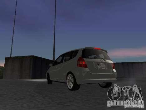 Honda Fit для GTA San Andreas вид сзади слева