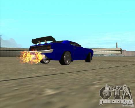 Plymouth Hemi Cuda из NFS Carbon для GTA San Andreas вид изнутри