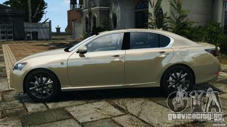 Lexus GS350 2013 v1.0 для GTA 4 вид слева