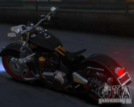 Harley-Davidson Fat Boy Lo (Vintage final) для GTA 4 вид сзади слева
