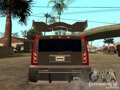 Hummer H2 NFS Unerground 2 для GTA San Andreas вид сзади слева