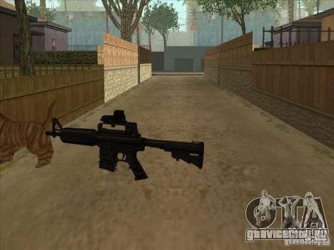 Кот вместо глушителя на M4 для GTA San Andreas третий скриншот