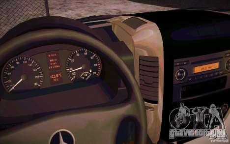 Mercedes Benz Sprinter 311 CDi для GTA San Andreas вид сзади