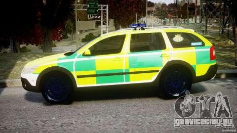 Skoda Octavia Scout Paramedic [ELS] для GTA 4 вид слева