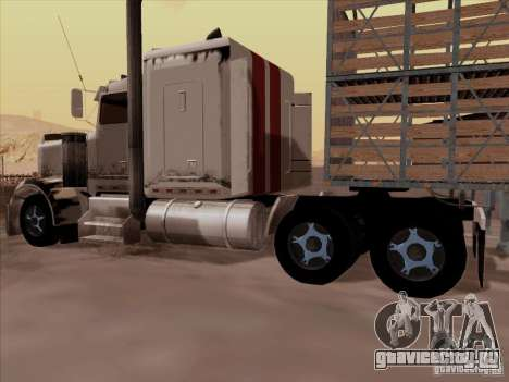 Kenworth W 900 RoadTrain для GTA San Andreas вид сзади