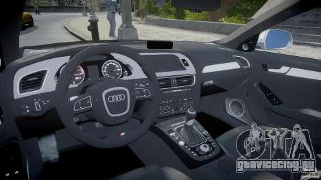 Audi S4 Unmarked [ELS] для GTA 4 вид справа