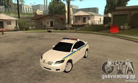Toyota Camry 2010 SE Police UKR для GTA San Andreas
