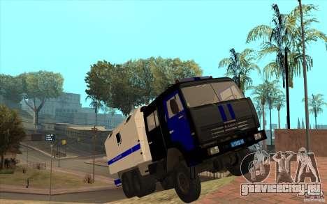 КамАЗ Милиция для GTA San Andreas вид изнутри