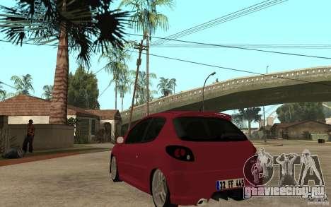 Peugeot 206 GTI CebeL Tuning для GTA San Andreas