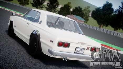 Nissan Skyline 2000 GT-R для GTA 4 салон