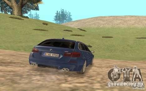 BMW M5 F11 Touring для GTA San Andreas вид изнутри
