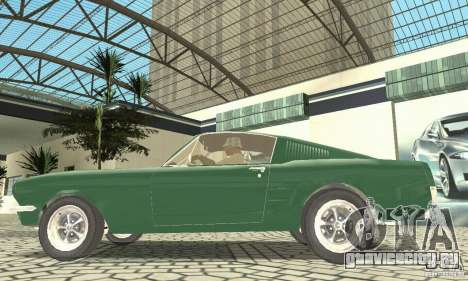 Ford Mustang Fastback 1967 для GTA San Andreas вид сзади слева