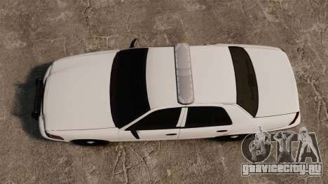 Ford Crown Victoria Unmarked ELS для GTA 4 вид справа