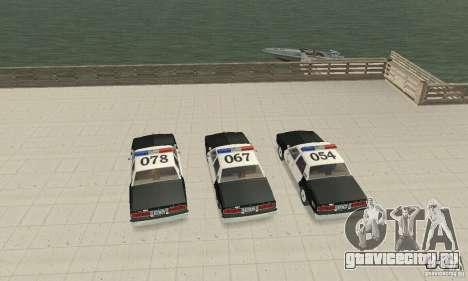 Chevrolet Caprice Interceptor 1986 Police для GTA San Andreas вид изнутри
