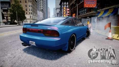 Nissan 240sx v1.0 для GTA 4 вид сзади слева