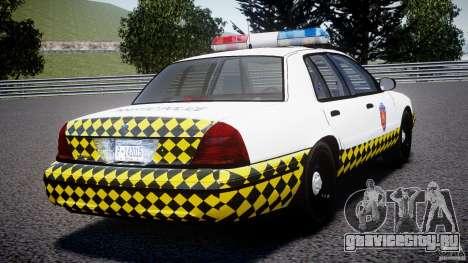 Ford Crown Victoria Karachi Traffic Police для GTA 4 вид сзади слева