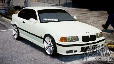 BMW e36 M3 для GTA 4 вид сзади