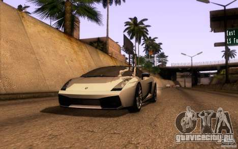 Lamborghini Gallardo Superleggera для GTA San Andreas вид слева