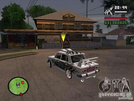 Ваз 2101 tuning для GTA San Andreas вид справа