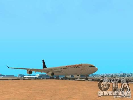 Airbus A340-300 Air Canada для GTA San Andreas вид слева