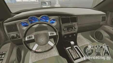 Dodge Charger RT Hemi FBI 2007 для GTA 4 вид сзади