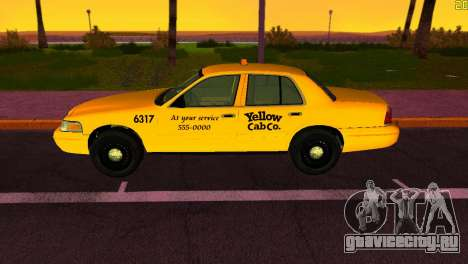 Ford Crown Victoria Taxi 2003 для GTA Vice City вид сзади слева