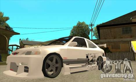 Honda Civic Tuning Tunable для GTA San Andreas вид снизу