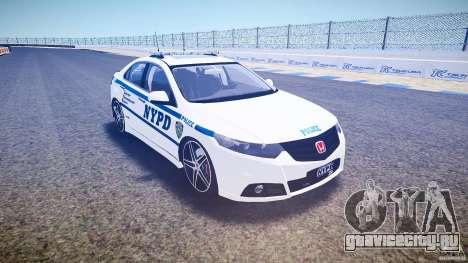 Honda Accord Type R NYPD (City Patro 1950l) ELS для GTA 4 вид сзади